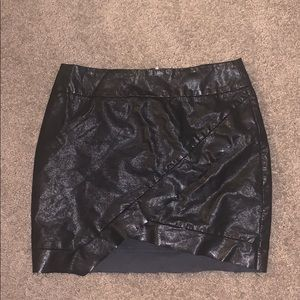 Missguided Faux Leather Mini Skirt Black Size 10